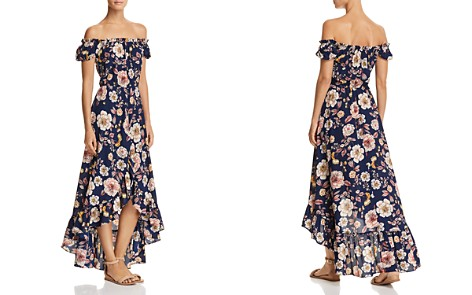 AQUA Floral Off-the-Shoulder Maxi Dress - 100% Exclusive - Bloomingdale's_2