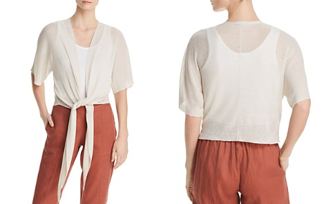 Eileen Fisher Petites Tie-Front Cropped Cardigan - Bloomingdale's_2