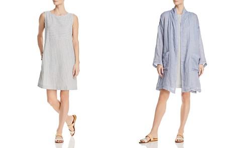 Eileen Fisher Striped Shift Dress - Bloomingdale's_2