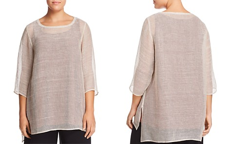 Eileen Fisher Plus Sheer Tunic Top - Bloomingdale's_2