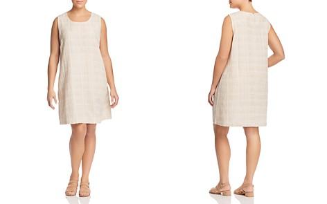 Eileen Fisher Plus Gridded Shift Dress - Bloomingdale's_2