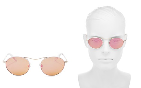 KENDALL and KYLIE Women's Tasha Mirrored Round Sunglasses, 49mm - Bloomingdale's_2