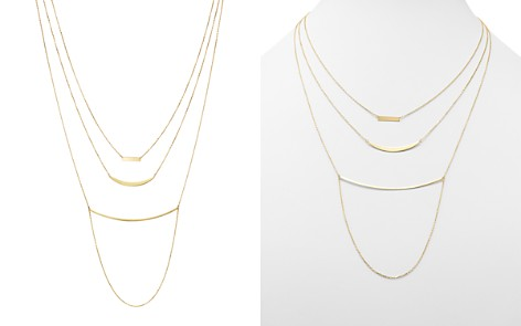 "Moon & Meadow Triple Layer Bar Necklace in 14K Yellow Gold, 19"" - 100% Exclusive - Bloomingdale's_2"