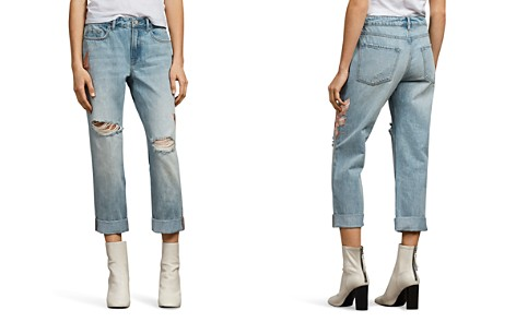 ALLSAINTS Alana Birds Embroidered Boyfriend Jeans in Indigo Blue - Bloomingdale's_2