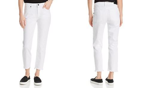 Parker Smith Cropped Straight-Leg Jeans in Blanc - Bloomingdale's_2