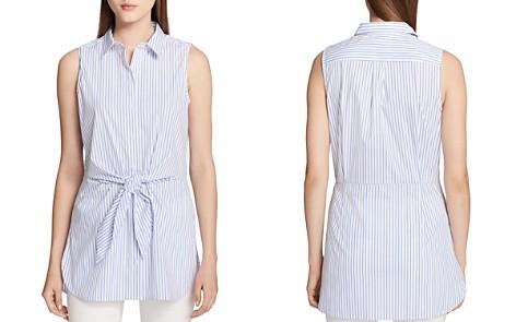 Calvin Klein Tie-Waist Striped Shirt - Bloomingdale's_2