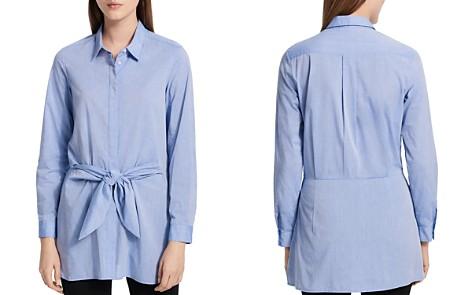 Calvin Klein Tie-Waist Button-Front Shirt - Bloomingdale's_2