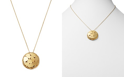 """Bloomingdale's Pebble Pattern Circle Pendant Necklace in 14K Yellow Gold, 20"""" - 100% Exclusive _2"""