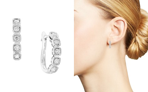 Bloomingdale's Diamond Huggie Hoop Earrings in 14K White Gold, 0.45 ct. t.w. - 100% Exclusive _2