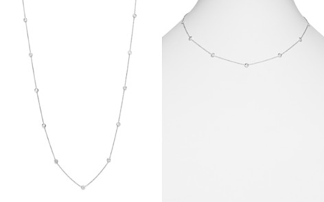 Diamond Station Necklace in 14K White Gold, 1.0 ct. t.w. - Bloomingdale's_2