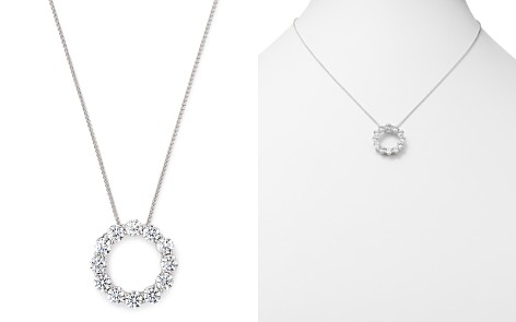 Diamond circle necklace bloomingdales diamond circle pendant in 14 kt white gold 30 ct tw 100 aloadofball Gallery