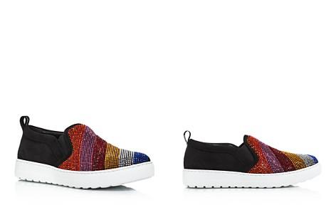 Salvatore Ferragamo Women's Balze Strass Embellished Suede Slip-On Sneakers - Bloomingdale's_2