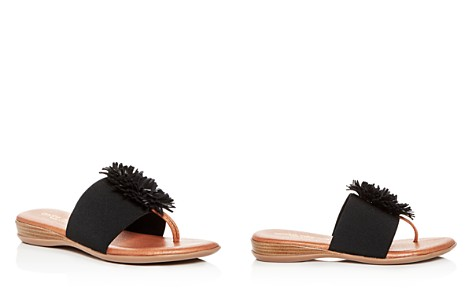 Andre Assous Women's Novalee Leather Fringe Demi Wedge Sandals - Bloomingdale's_2