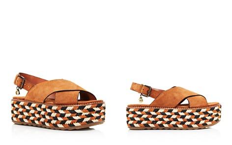 COACH Women's Suede Platform Wedge Sandals - Bloomingdale's_2