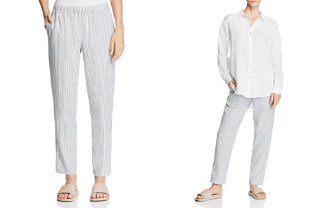 Eileen Fisher Cropped Striped Pants - Bloomingdale's_2