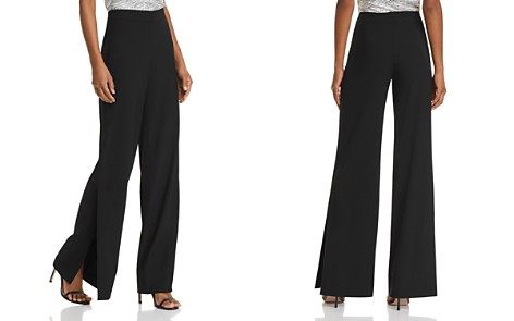 Theory Side-Slit Crepe Pants - Bloomingdale's_2