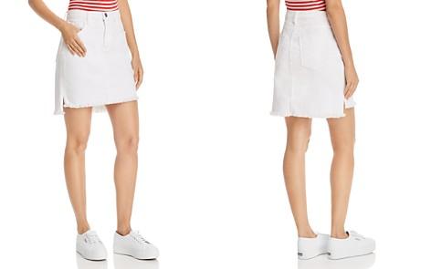 Current/Elliott Step-Hem Denim Mini Skirt - Bloomingdale's_2