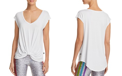 Terez Twist-Front V-Neck Tee - Bloomingdale's_2
