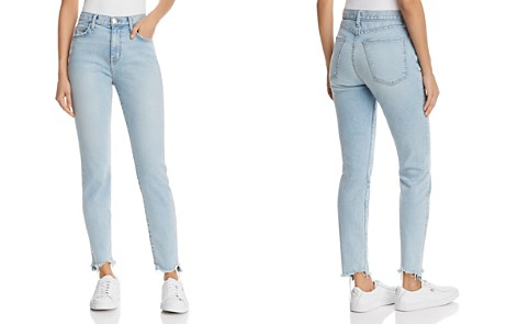 Current/Elliott The High-Rise Raw-Edge Ankle Skinny Jeans in Barren - Bloomingdale's_2