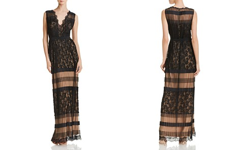 Tadashi Shoji Lace-Inset Pleated Gown - Bloomingdale's_2