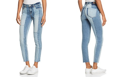BLANKNYC Contrast Patchwork Jeans in Midtown Madness - Bloomingdale's_2