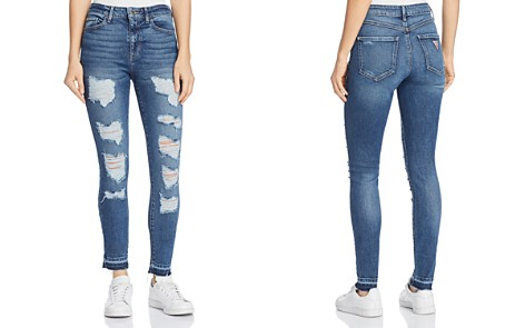 GUESS 1981 Destroyed Skinny Jeans in Bayside Light - Bloomingdale's_2