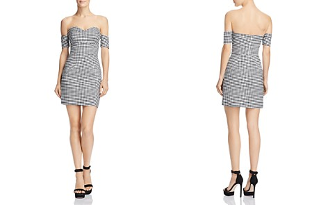 GUESS Gingham Off-the-Shoulder Dress - Bloomingdale's_2