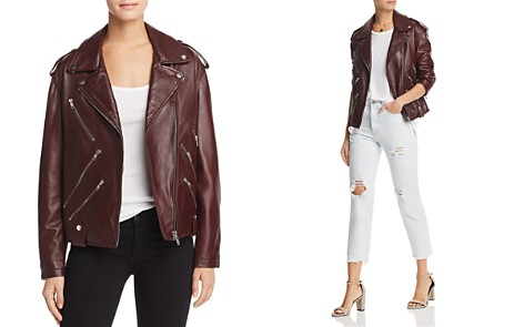 McQ Alexander McQueen Leather Biker Jacket - Bloomingdale's_2