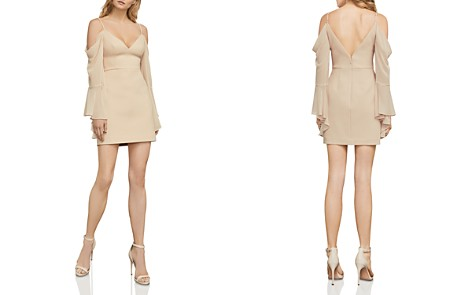 BCBGMAXAZRIA Palm Cold-Shoulder Bell Sleeve Dress - Bloomingdale's_2