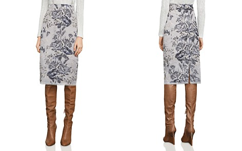 BCBGMAXAZRIA Metallic Embroidered Pencil Skirt - Bloomingdale's_2