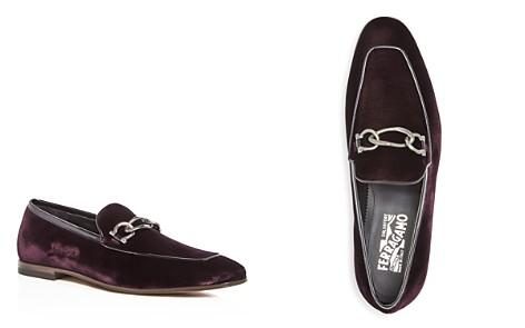 Salvatore Ferragamo Men's Velvet & Patent Leather Apron Toe Loafers - Bloomingdale's_2