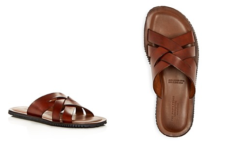 The Men's Store at Bloomingdale's Woven Leather Slide Sandals - 100% Exclusive_2
