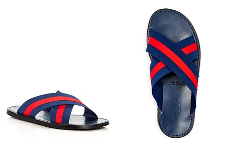 The Men's Store at Bloomingdale's Striped Slide Sandals - 100% Exclusive_2