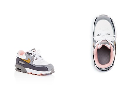Nike Girls' Air Max 90 Color-Block Leather Lace Up Sneakers - Walker, Toddler - Bloomingdale's_2