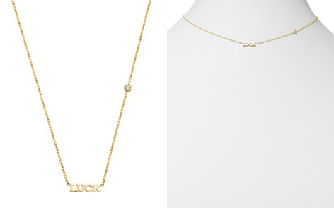 """Zoë Chicco 14K Yellow Gold Tiny Luck Diamond Necklace, 16"""" - Bloomingdale's_2"""