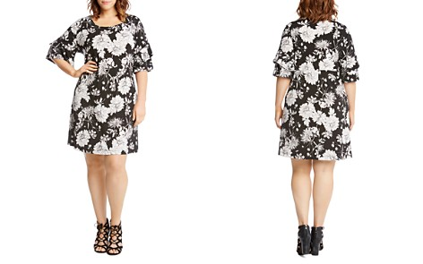 Karen Kane Plus Ruffled-Sleeve Floral-Print Dress - Bloomingdale's_2