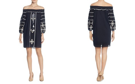 CATHERINE Catherine Malandrino Muriel Off-the-Shoulder Embroidered Dress - Bloomingdale's_2