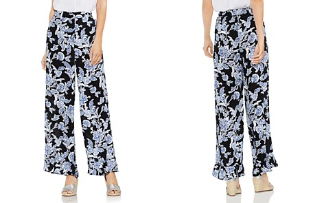 VINCE CAMUTO Floral Wide-Leg Ruffle Pants - Bloomingdale's_2