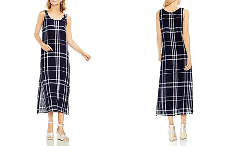 VINCE CAMUTO Beach Plaid Midi Dress - Bloomingdale's_2