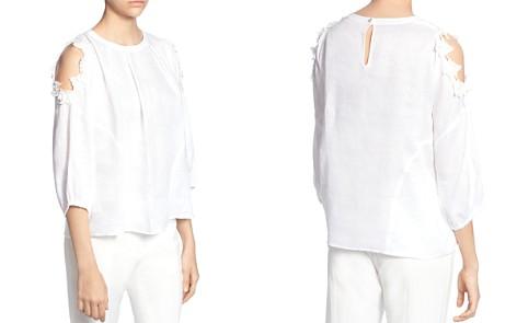 CATHERINE Catherine Malandrino Priya Linen Cold-Shoulder Blouse - Bloomingdale's_2