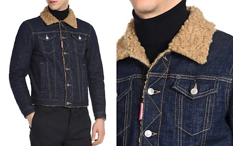 DSQUARED2 Dan Sherpa-Lined Denim Jacket - Bloomingdale's_2