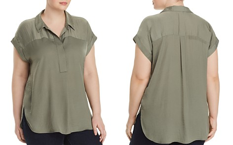 VINCE CAMUTO Plus Collared Henley Top - Bloomingdale's_2