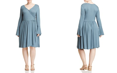 B Collection by Bobeau Curvy Forrest Faux Wrap Dress - Bloomingdale's_2