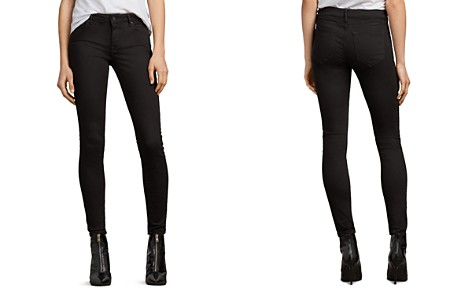 ALLSAINTS Mast Skinny Jeans in Jet Black - Bloomingdale's_2