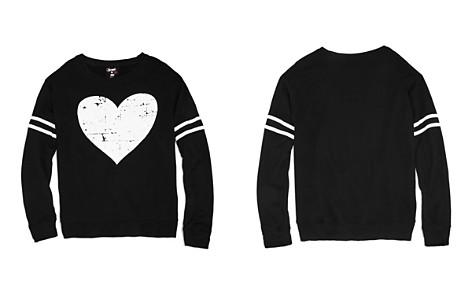 Flowers by Zoe Girls' French Terry Distressed Heart Sweatshirt - Big Kid - Bloomingdale's_2