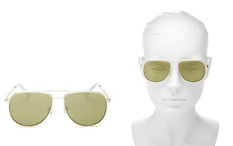 Le Specs Women's Hard Knock Flash Mirrored Aviator Sunglasses, 51mm - Bloomingdale's_2