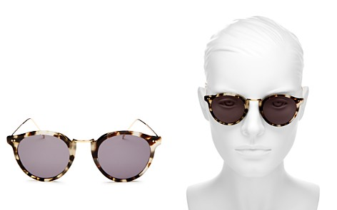 Illesteva Portofino Round Sunglasses, 48mm - Bloomingdale's_2