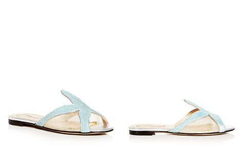 Charlotte Olympia Women's Sandy Sequin Starfish Slide Sandals - Bloomingdale's_2