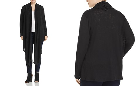 Elan Plus Two-Way Open Cardigan - Bloomingdale's_2