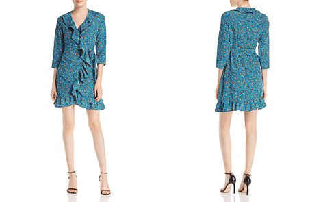 Alison Andrews Ruffle-Trimmed Floral-Print Wrap Dress - Bloomingdale's_2